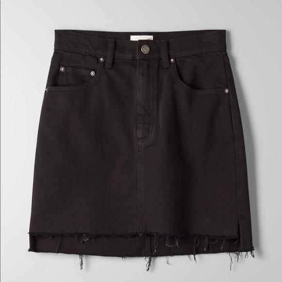 Wilfred Free Black Tanit Denim Skirt